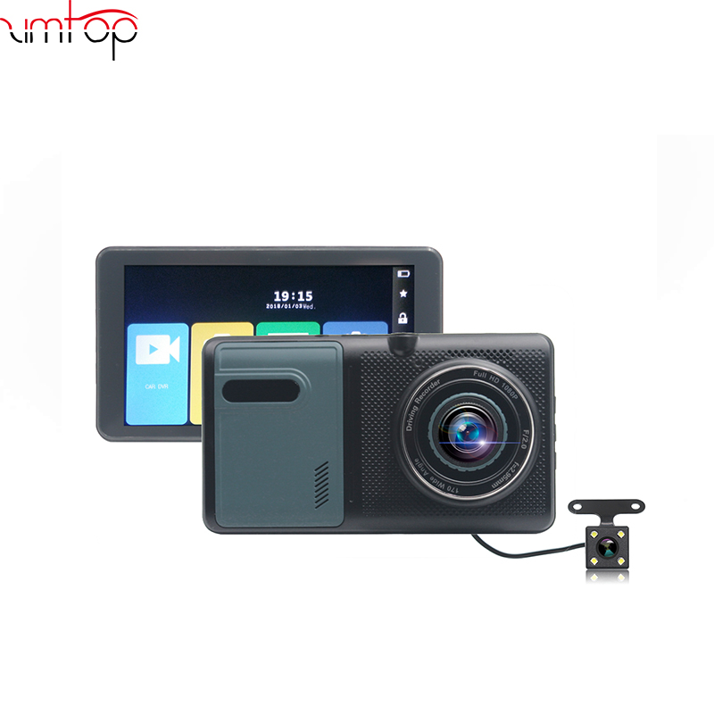 5 Inch IPS HD Touch Screen Car DVR Dual Lens Night Vision 1080P Video Recorder Parking Truck Dash Camera