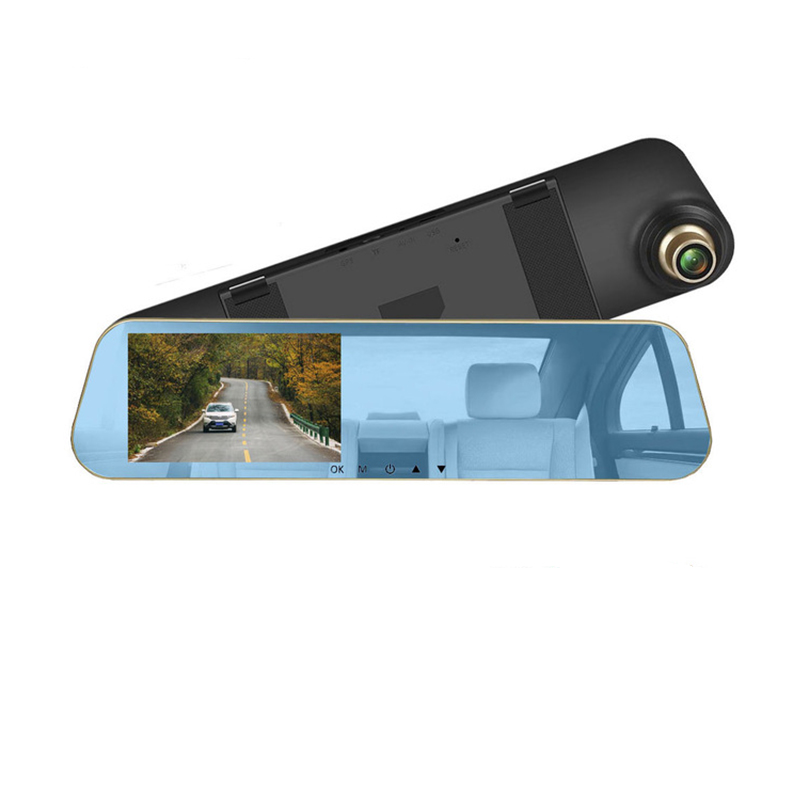 4.3 Inch 1080P Dual Lens Backup Auto Side Rear View Car Mirror Camera Reverse DVR Hidden Camera in Car Mirror