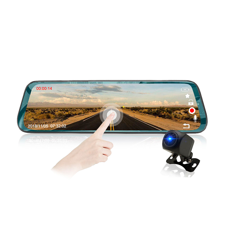 OEM Style Full screen 10 inch car dvr rear view mirror camera