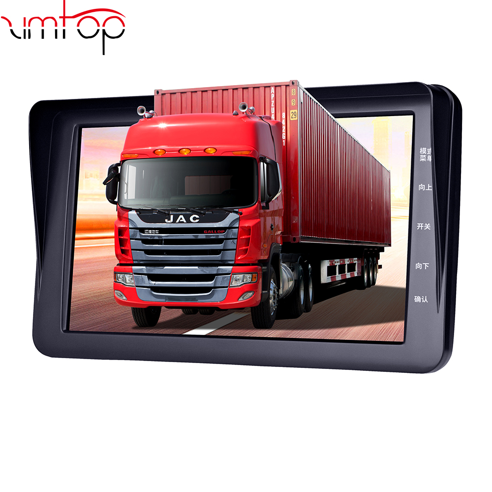 Zimtop 7 inch 24V truck dvr 1080P back and front wilde voltage truck dashboard driving recorder for big truck and school bus