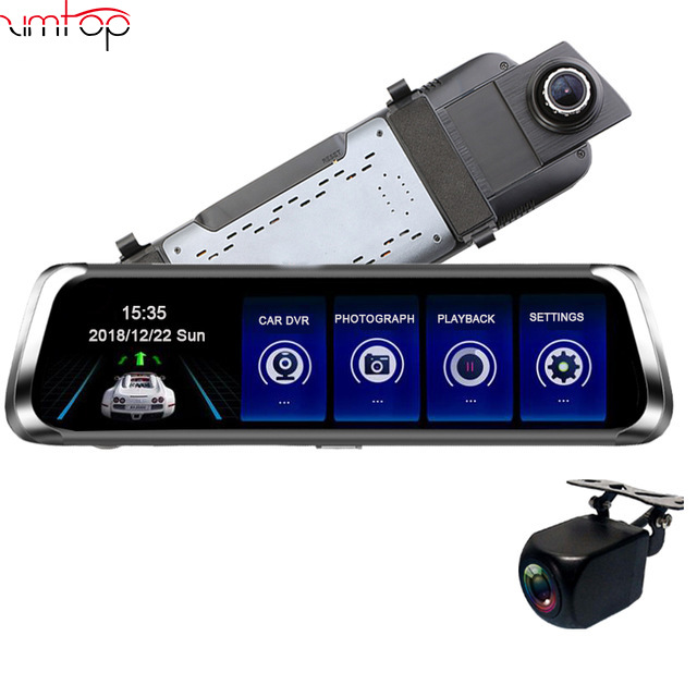 Zimtop 10 Inch LCD 1080p 170 Camera Car DVR Recorder 2019 LCWS Dash Cam